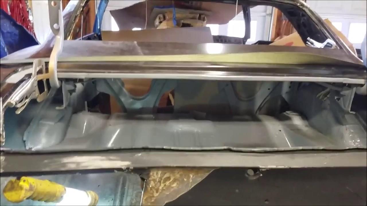 69 Camaro Trunk Floor Pan Part 1 Youtube