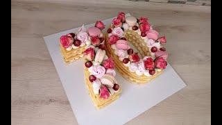 торт ЦИФРА с коржами МОЛОЧНАЯ ДЕВОЧКА Выпечка и сборка торта ЦИФРА ПОДРОБНО Всегда получается