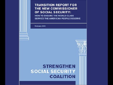 Rep. Rosa DeLauro: Transition Report For The New Commissioner of Social Security