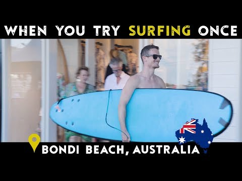 When You Try Surfing Once | Bondi Beach, Australia