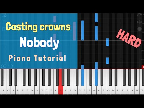 Casting Crowns - Nobody Piano Tutorial Instrumental Ft. Matthew West