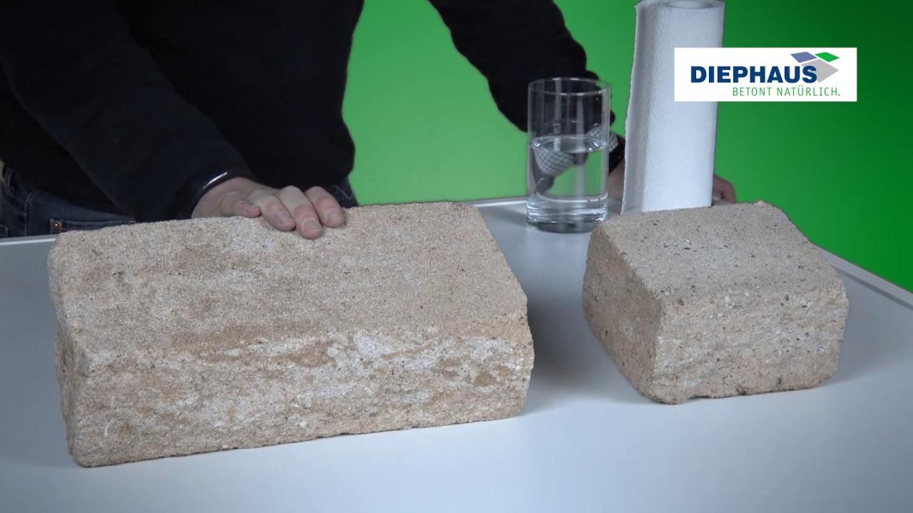 Pflegeleichte DIEPHAUS Gartenmauer | beschichtet - YouTube
