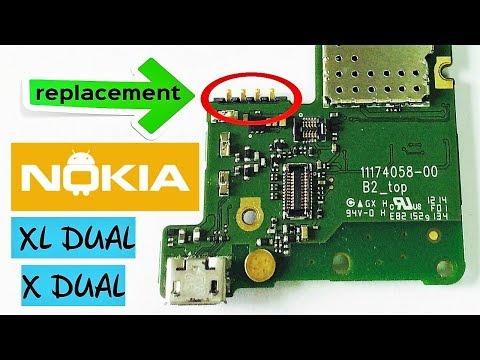 NOKIA X DUAL / XL DUAL замена коннектора - Connector Replacement