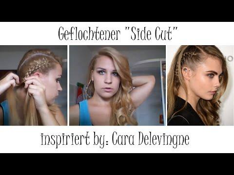Sidecut Frauen Zopf Frisuren Halblang Sidecut Frisur