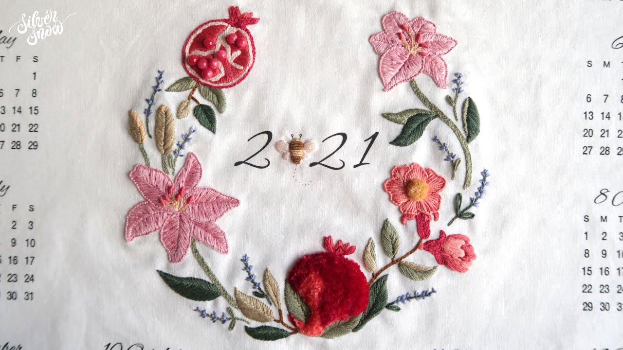 [프랑스 자수 ENC CC] 2021년 달력 자수 1편 2021 Calendar Embroidery - 1st Episode -