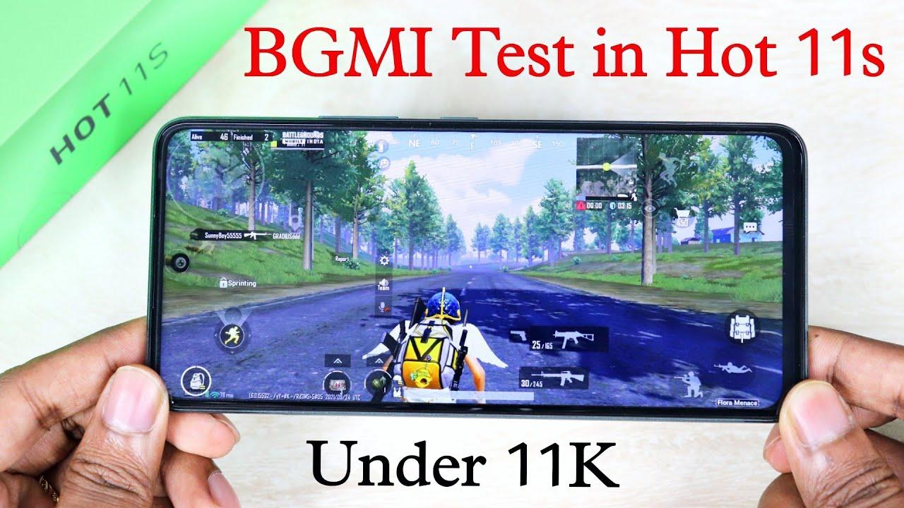 Best Gaming Phone under 11K | BGMI Test in Infinix Hot 11s