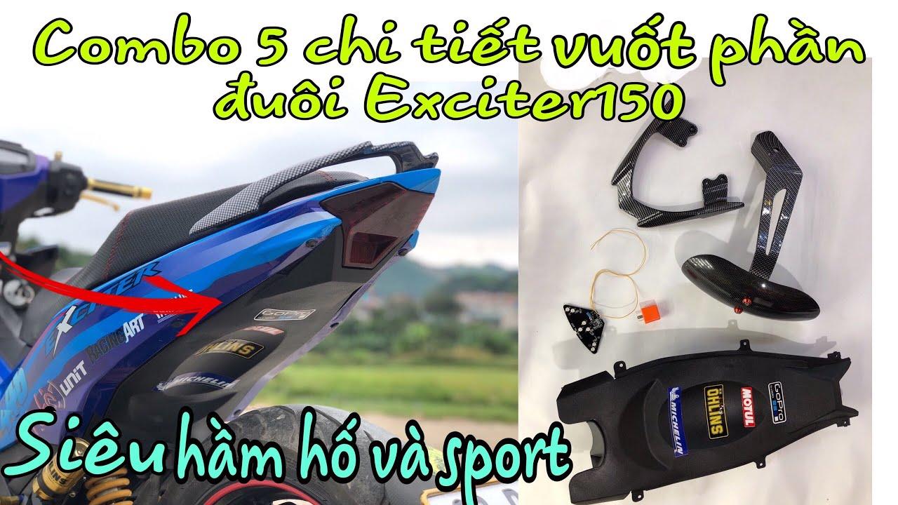 Combo 5 Chi Tiết Độ Đuôi Vót Nhọn Exciter 150 Cực Đẹp-5 sharp tail sharp details for Exciter 150