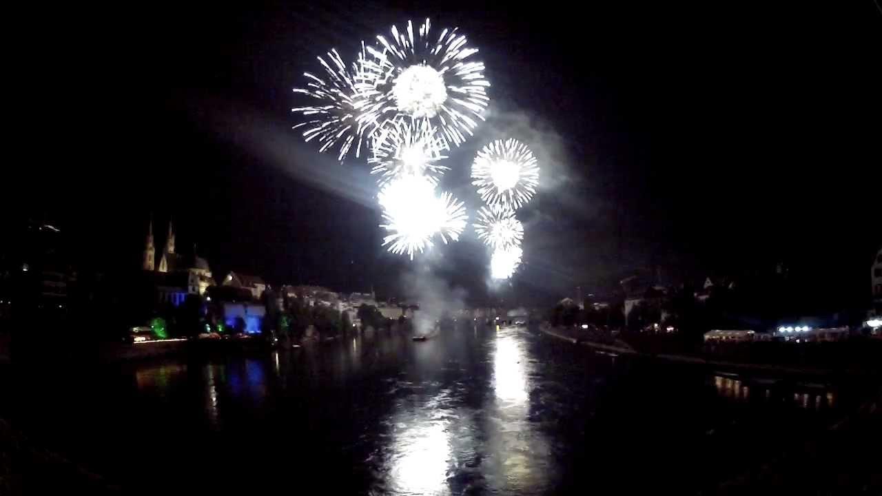 1 August Feuerwerk 2012 Basel Volle Länge Youtube