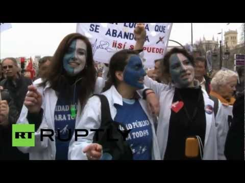 Spain: Waves of health workers descend on Madrid protesting privatisation