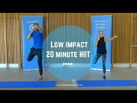 Low impact 20 minute HIIT workout - beginner/intermediate (H20 plan workout 1 )
