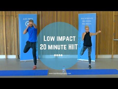 Low impact 20 minute HIIT workout beginner/intermediate (H20 plan workout 1 )