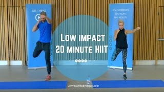 Low impact 20 minute HIIT workout  beginner/intermediate (H20 plan workout 1 )