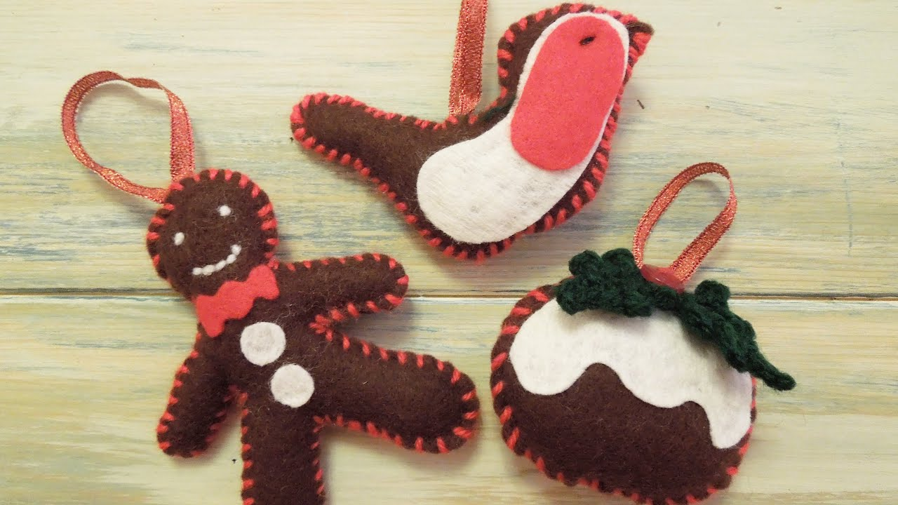 Red and brown christmas tree decorations - Craft Crochet How To Christmas Tree Decorations Hd