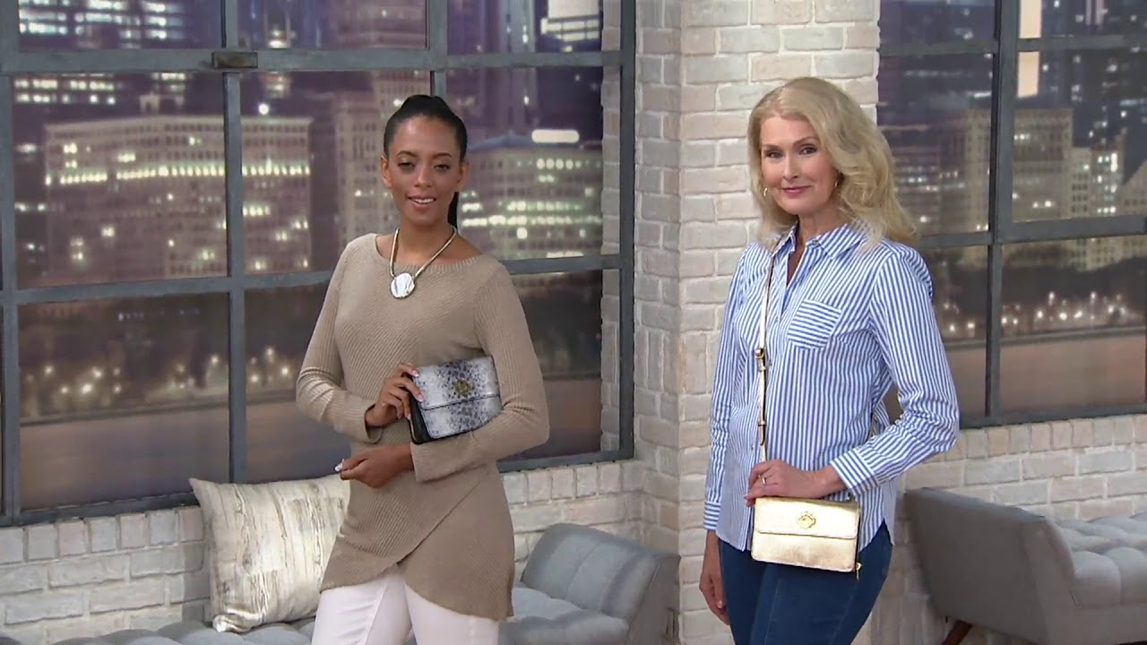 fb898e8fafbe orYANY Pebble Leather Crossbody - Ivy on QVC - YouTube