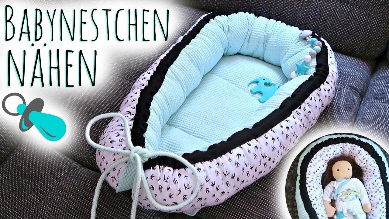 Nestchen für babys nähen babynestchen selber machen anleitung