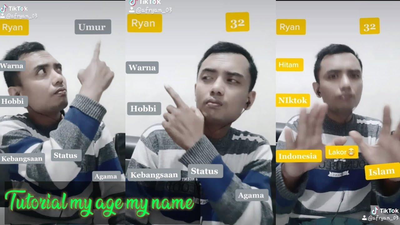 Cara Bikin Tik Tok My Name My Age My Favorite Colour Youtube