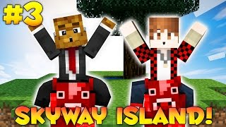 "Minecraft SKYWAY ISLAND Survival Map ""MOOSHROOM MADNESS"" #3 w/ JeromeASF & BajanCanadian"