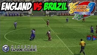 Virtua Striker 3 Ver 2002 Gamecube Gameplay England Vs Brazil
