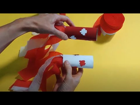 Canada Day Kids Blower   Crafts For Kids   Canada Day Kids Crafts   Canada Day DIY