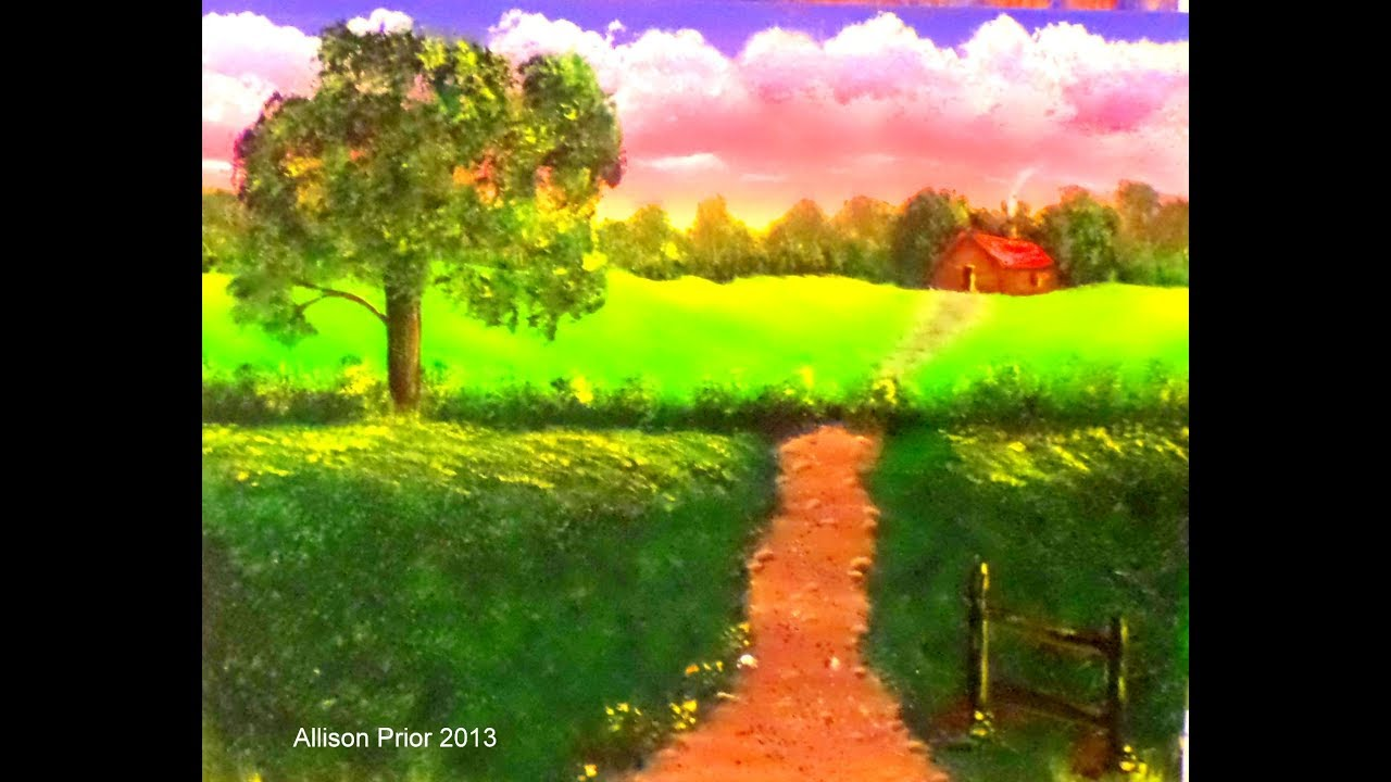 Acrylic Painting Full Lesson Country Landscape For