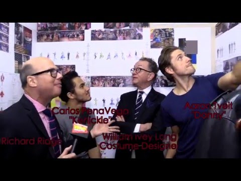Aaron Tveit, Carlos Penavega & William Ivey Long (BroadwayWorld, Grease Live) 15 Jan 2016