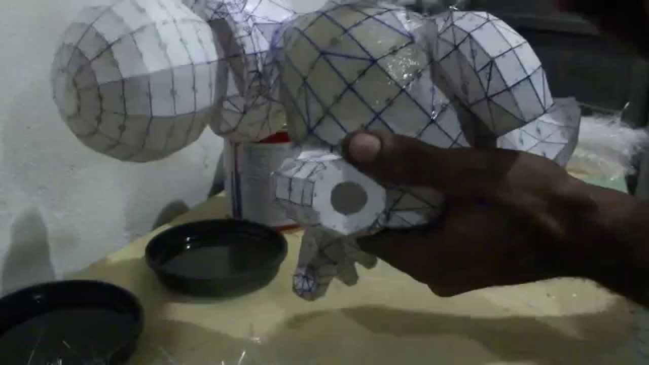 Papercraft Como resinar papercraft - parte 1 - overdosegamer.blogspot.com.br