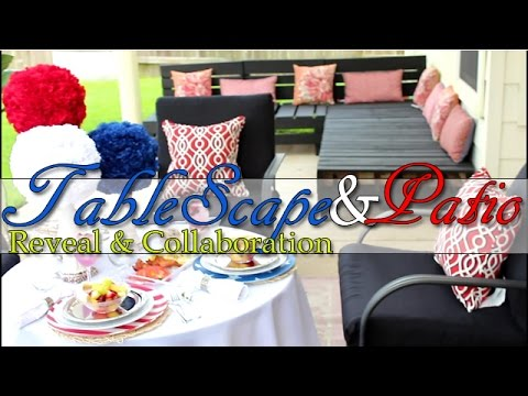 Summer Room Reveal Challenge:4th of July Patio & TableScape