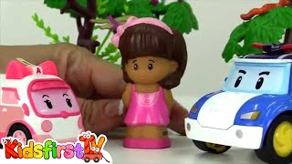 Toy Car Rescue Stories - DOCTORS & NURSES! Doctor Robocar Poli & Nurse Amber