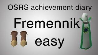 [OSRS] Fremennik easy diary guide