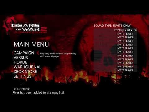 Gears of War 2 Ultimate Edition Main Menu (Fanmade by ProGear360)