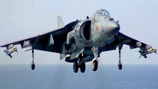 AV-8B Harrier Landing/Takeoff on Navy Amphibious Assault Ship