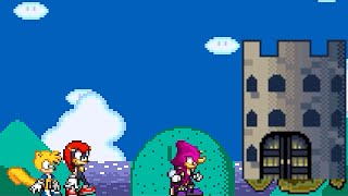 Mugen Mighty, Ray, Espio and Charmy in Castle Calamity