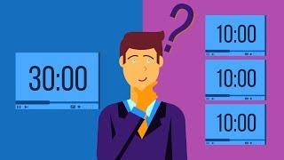 Продолжительность видеороликов на Youtube. Какие ролики создавать короткие или длинные?