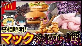 【ゆっくり解説】マックのハンバーガーはなぜ腐らない!?安いメニューが危険と言われる理由についね