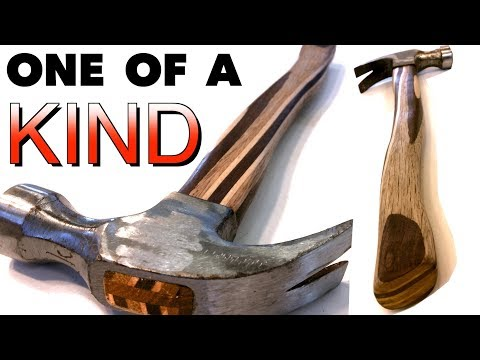 Twisted laminate hammer handles. Strong and Unique!  FarmCraft101