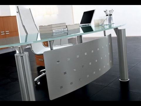 Glass Office Desk and Glass Desks For Home Office Furniture YouTube