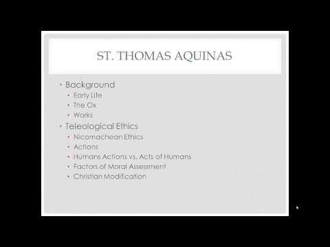Ethics Aquinas Ethics