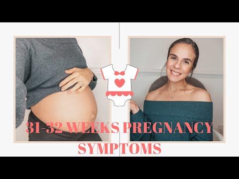 31-32 BUMP UPDATE | PREGNANCY SYMPTOMS