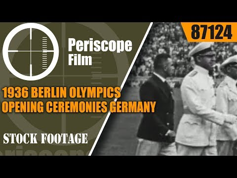1936 BERLIN OLYMPICS OPENING CEREMONIES   GERMANY  87124