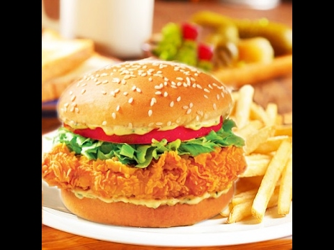 KFC Zinger Burger Recipee | Zainab Cooking - YouTube