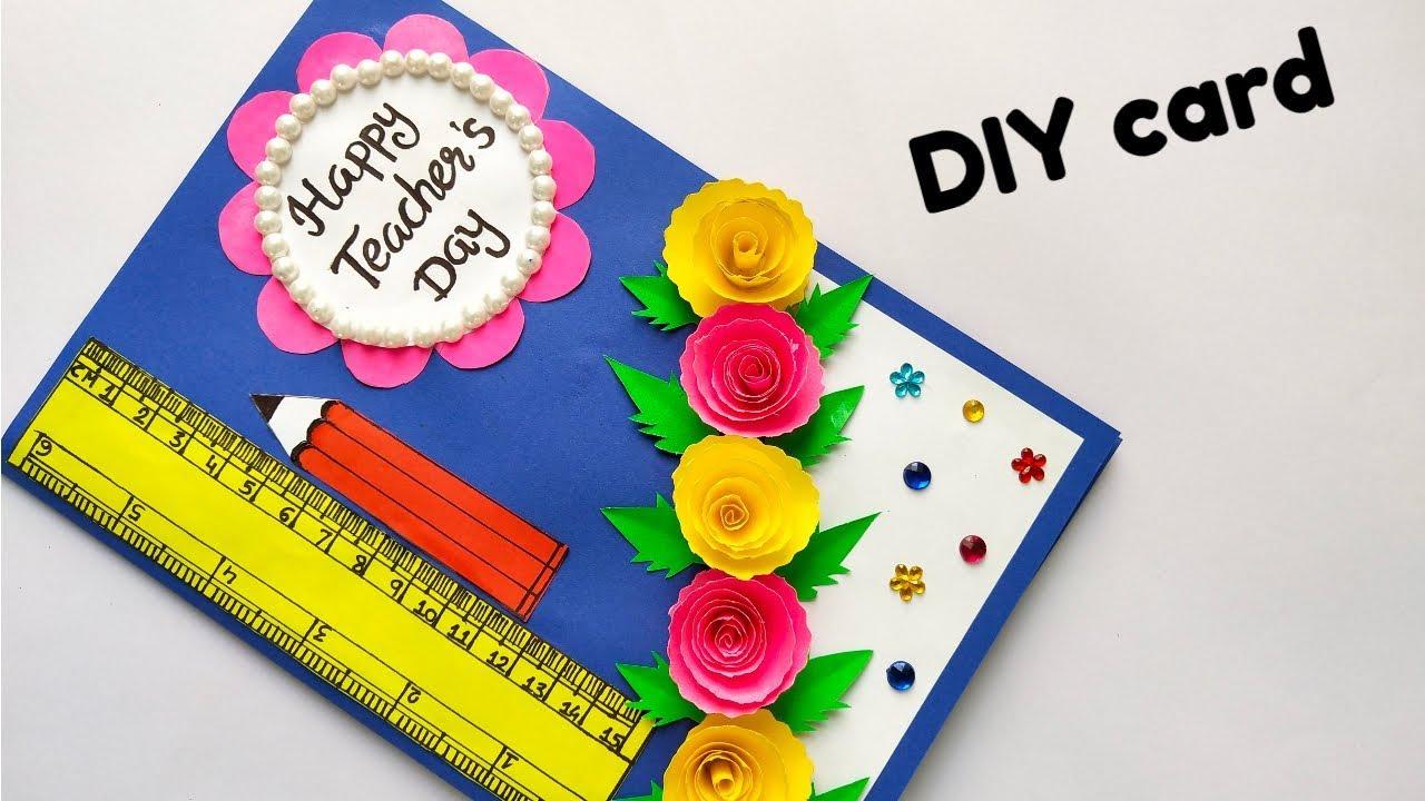 diy teacher's day card handmade teacher's day card easy