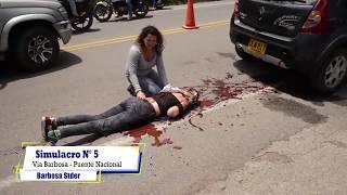 Simulacro N° 5 Accidente sobre la Via Barbosa - Puente Nacional YouTube Videos