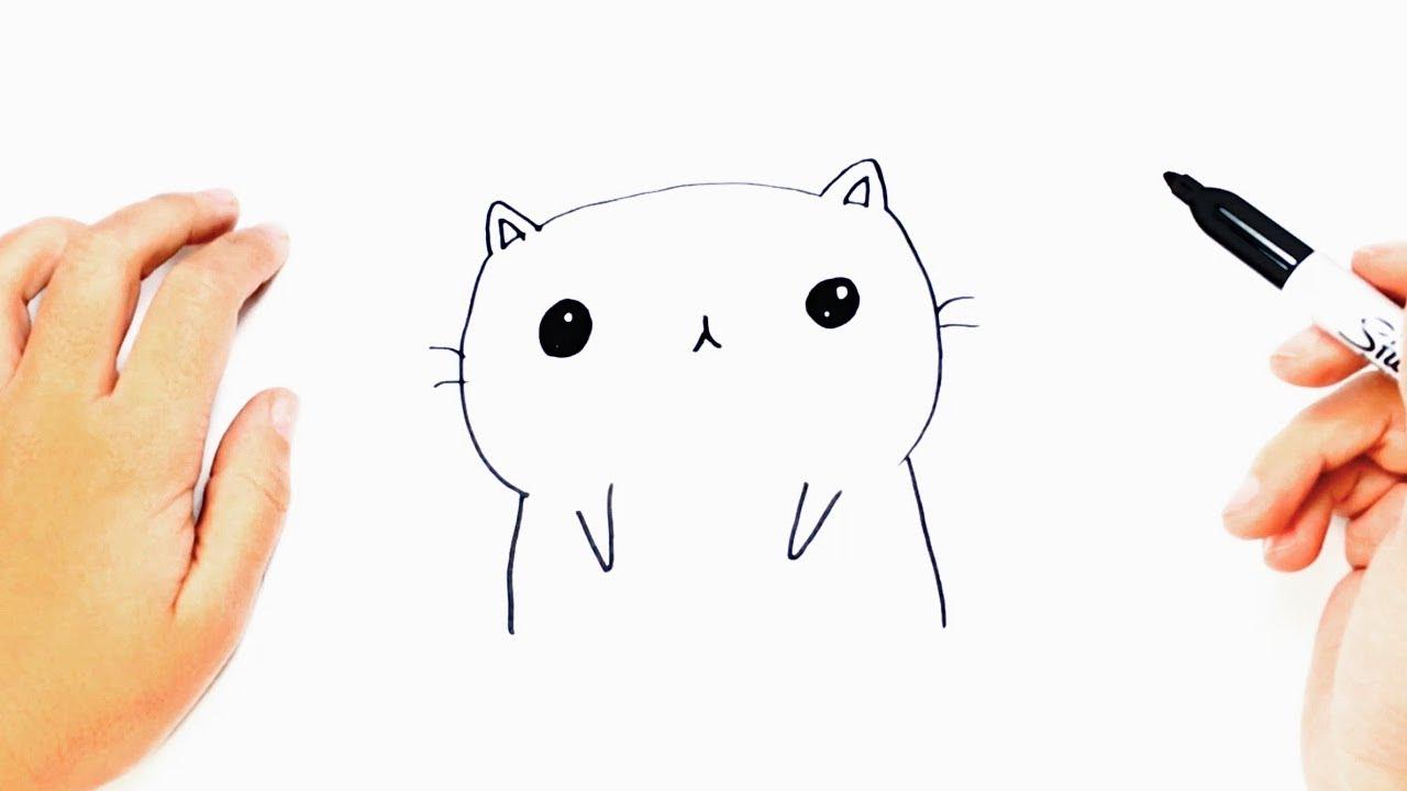 How To Draw A Kawaii Cat Step By Step Kawaii Drawings Youtube