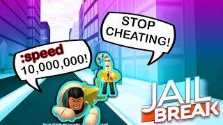 YOUTUBER CHEATS IN ROBLOX JAILBREAK COPS UND ROBBERS!!!
