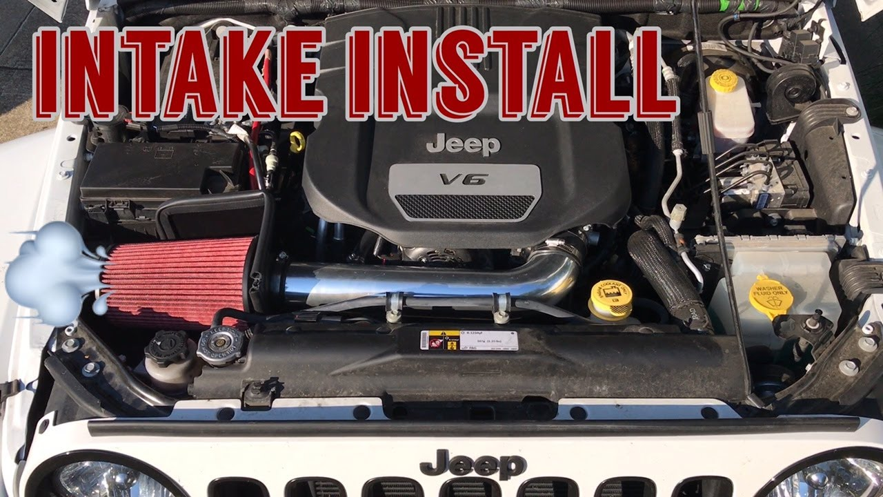 jeep wrangler jk cold air intake install rugged ridge soundclip before after [ 1280 x 720 Pixel ]