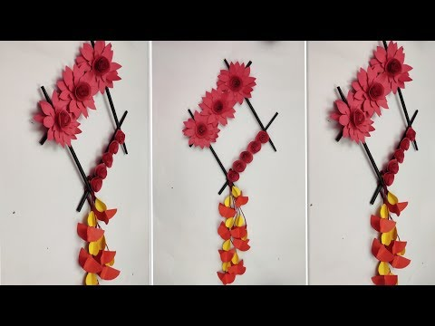 Paper Flower Wall hanging | Home Decor Ideas | Easy Wall Decorations ideas | DIY Handmade Things