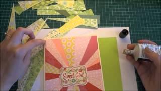как сделать яркую и оригинальную открытку из обрезков бумаги - Скрапбукинг / Aida Handmade