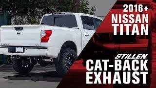 2016 2018 nissan titan stillen cat back exhaust 5 6l non xd 2wd 4wd