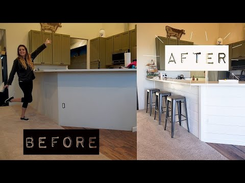 DIY Home Owners Shiplap | Kitchen Bar Shiplap Makeover |