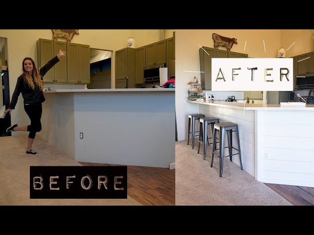 Diy Kitchen Makeover On A Budget Diy Kitchen Shiplap Living It Country Youtube